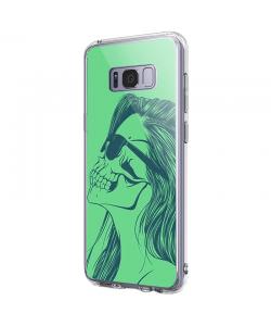 Skull Girl - Samsung Galaxy S8 Carcasa Premium Silicon