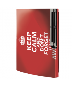 Keep Calm and Be Awesome - Sony Play Station 3 Skin