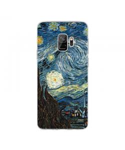 Van Gogh - Starry Night - Samsung Galaxy S9 Carcasa Transparenta Silicon