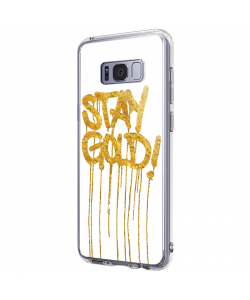 Stay Gold - Samsung Galaxy S8 Plus Carcasa Premium Silicon
