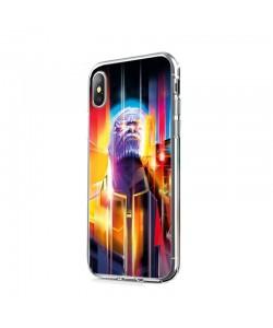 Thanos Infinity War - iPhone X Carcasa Transparenta Silicon