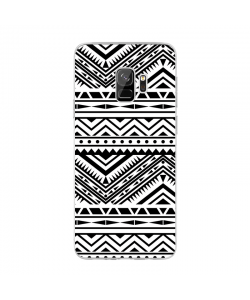 Tribal Black & White - Samsung Galaxy S9 Carcasa Transparenta Silicon