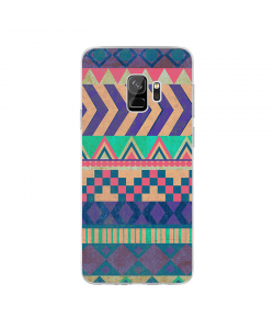 Tribal Pastel - Samsung Galaxy S9 Carcasa Transparenta Silicon