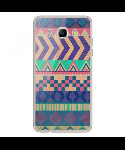 Tribal Pastel - Samsung Galaxy J7 Carcasa Silicon Transparent