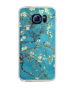 Van Gogh - Branches with Almond Blossom - Samsung Galaxy S6 Edge Plus Carcasa Silicon