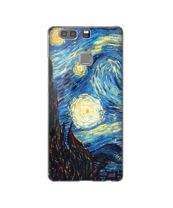 Van Gogh - Starry Night - Huawei P9 Carcasa Transparenta Silicon