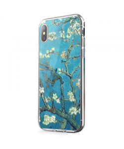 Van Gogh - Branches with Almond Blossom - iPhone X Carcasa Transparenta Silicon