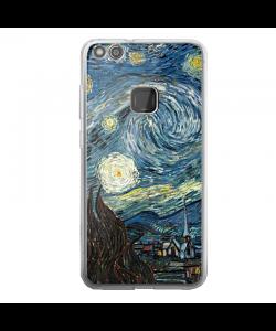 Van Gogh - Starry Night - Huawei P10 Lite Carcasa Transparenta Silicon