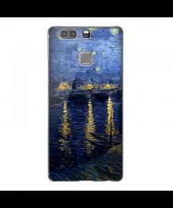 Van Gogh Starryrhone - Huawei P9 Plus Carcasa Transparenta Silicon