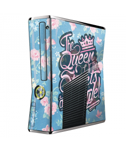 Queen of the Streets - Floral Blue - Xbox 360 Slim Skin