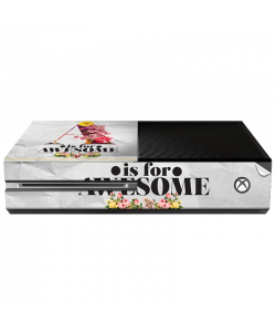 A is for Awesome - Xbox One Consola Skin