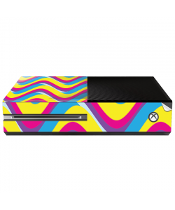 CMYK Waves - Xbox One Consola Skin