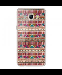 Zig-Zag Carpet - Samsung Galaxy J7 Carcasa Silicon Transparent
