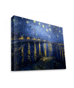 Van Gogh - Starryrhone - Canvas Art 35x30