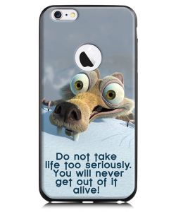 Alive - iPhone 6 Plus Carcasa TPU Premium Neagra