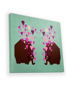 Elephant Love - Canvas Art 45x45