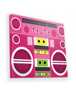 Boombox - Canvas Art 45x45
