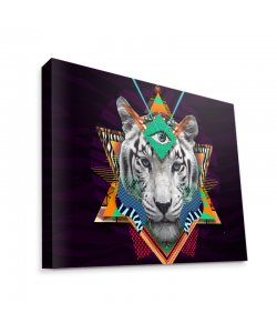 Eyes of the Tiger - Canvas Art 35x30