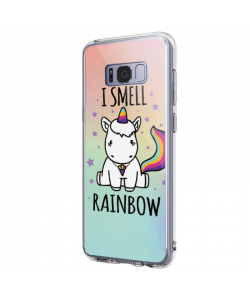 I smell rainbow - Samsung Galaxy S8 Plus Carcasa Transparenta Silicon