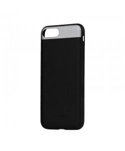 Vivid Leather Black - Comma iPhone 7 Plus / iPhone 8 Plus Carcasa (Piele naturala, aluminiu si margini flexibile)