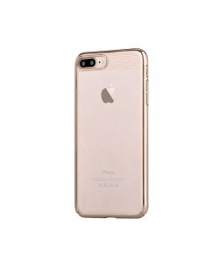 Brightness Champagne Gold - Comma iPhone 7 Plus / iPhone 8 Plus Carcasa (electroplacat, protectie 360°)