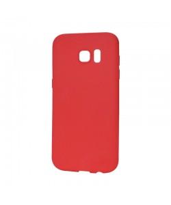 Procell Silky - Samsung Galaxy S7 Edge Carcasa Silicon Rosu