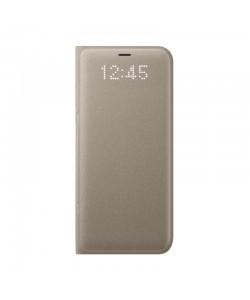 Samsung Book Led View - Samsung Galaxy S8 Husa Book Gold