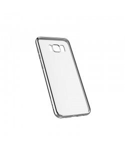 Devia Glitter Soft Silver - Samsung Galaxy S8 Carcasa Silicon (margini electroplacate)