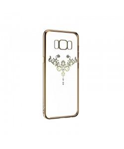 Devia Iris Champagne Gold - Samsung Galaxy S8 Carcasa Silicon (Cristale Swarovski®)