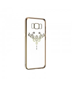 Devia Iris Champagne Gold - Samsung Galaxy S8 Plus Carcasa Silicon (Cristale Swarovski®)