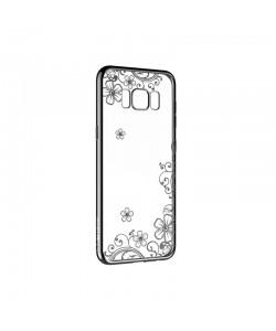 Devia Joyous Gun Black - Samsung Galaxy S8 Plus Carcasa Silicon (Cristale Swarovski®, electroplacat)
