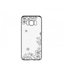 Devia Joyous Silver - Samsung Galaxy S8 Plus Carcasa Silicon (Cristale Swarovski®, electroplacat)