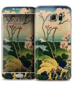 Hokusai - The Fuji from Gotenyama at Shinagawa on the Tokaido - Samsung Galaxy S6 Skin