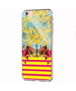 Butterfly Effect - iPhone 6 Carcasa Transparenta Silicon
