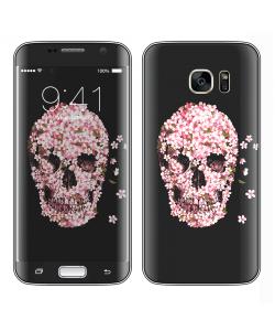 Cherry Blossom Skull - Samsung Galaxy S7 Edge Skin
