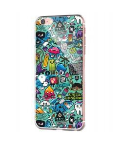 Urban Chaos - iPhone 6 Carcasa Transparenta Silicon