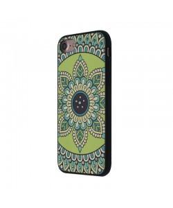 Occa Artist Royal Green Mandala - iPhone 7 / iPhone 8 Carcasa PC (3D print cu cristale)