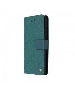 Just Must Linen Olive - Huawei P10 Husa Book (material textil cu silicon in interior)
