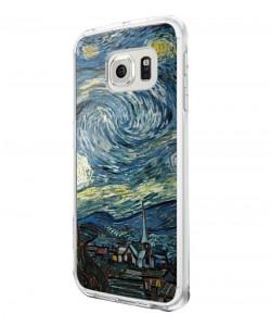 Van Gogh - Starry Night - Samsung Galaxy S6 Edge Carcasa Silicon Premium