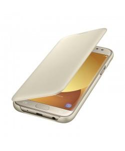 Samsung Wallet Cover Gold - Samsung Galaxy J5 (2017) Husa Book Aurie