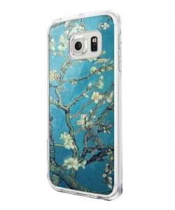 Van Gogh - Branches with Almond Blossom - Samsung Galaxy S6 Edge Carcasa Silicon Premium