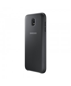 Samsung Dual Layer Cover Black - Samsung Galaxy J7 (2017) Carcasa Silicon Negru