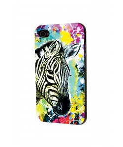 Zebra Splash - iPhone 4 / 4S Skin