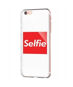 Selfie - iPhone 6 Carcasa Transparenta Silicon