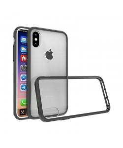 Just Must Pure II Black - iPhone X Carcasa TPU (spate transparent, margini flexibile)