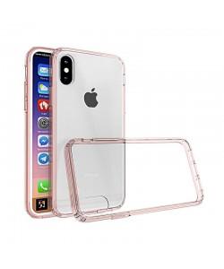 Just Must Pure II Pink - iPhone X Carcasa TPU (spate transparent, margini flexibile)
