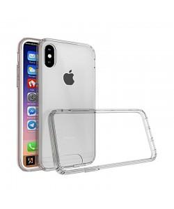 Just Must Pure II Clear - iPhone X Carcasa TPU (spate transparent, margini flexibile)