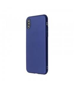 Just Must Uvo - iPhone X Carcasa Plastic Navy (material fin la atingere, slim fit)