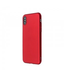 Just Must Uvo - iPhone X Carcasa Plastic Red (material fin la atingere, slim fit)