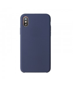Just Must Liquid - iPhone X Carcasa Silicon Midnight Blue
